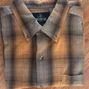 REDHEAD BUTTON DOWN SHIRT LARGE